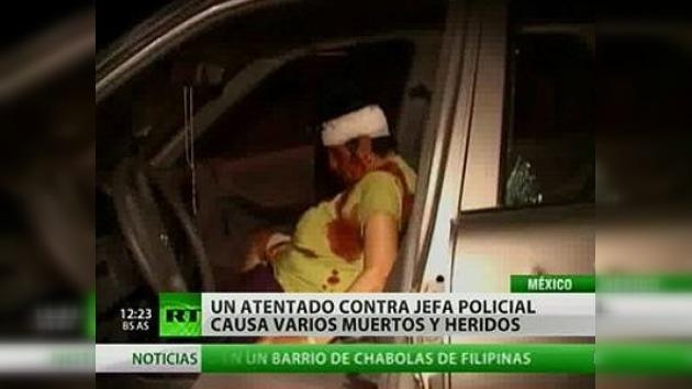 Un atentado contra jefe policial causa varios muertos y heridos en México