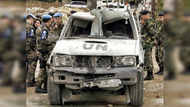 Se produce una potente explosión en Líbano contra pacificadores de la ONU