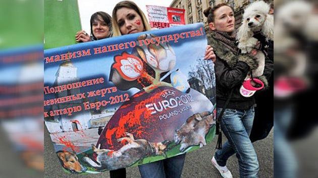 En Ucrania protestan por la matanza de perros callejeros antes de la Eurocopa