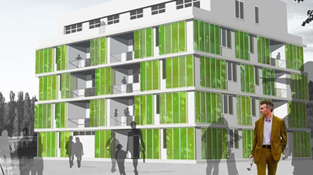 Na Alemanha, construiu o primeiro edifício do mundo alimentado por algas