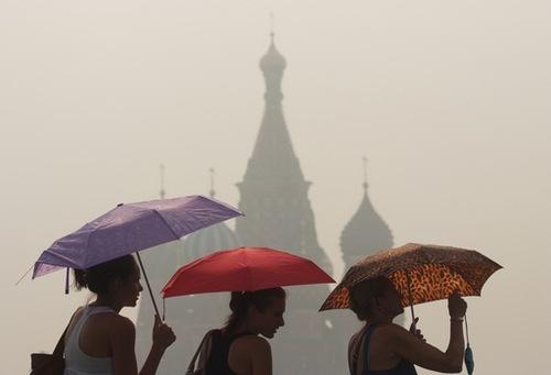 Rusia, cubierta por un manto de humo