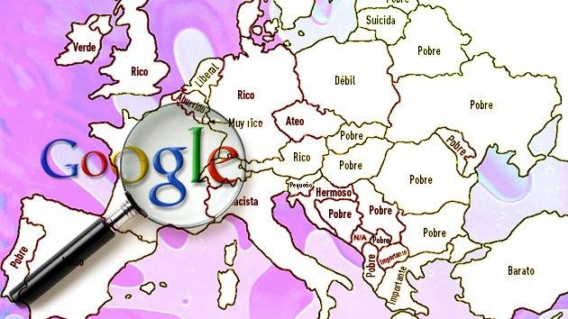 """Mapas: España """"vacía"""", Italia """"racista"""", Bélgica """"aburrida"""" y otros estereotipos de Google"""