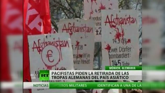 Manifestantes exhortan a retirada alemana de Afganistán