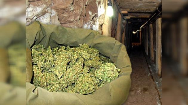 180 kilos de marihuana al final de un túnel