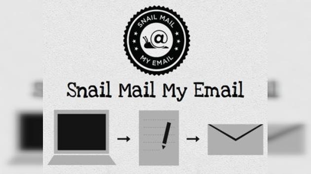Tecnología inversa: de correos electrónicos a cartas escritas a mano