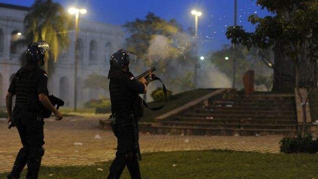Fotos: Multitudinarias protestas en Paraguay contra la polémica ley 'privatizadora'
