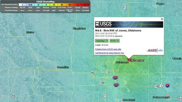 EE.UU.: Un sismo de 4,5 sacude Oklahoma
