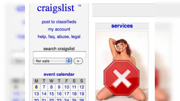 Popular sitio de Internet cierra sección de servicios para adultos