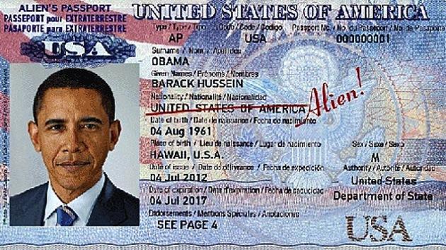 Obama y Clinton obtienen pasaportes 'alienígenas' en Letonia