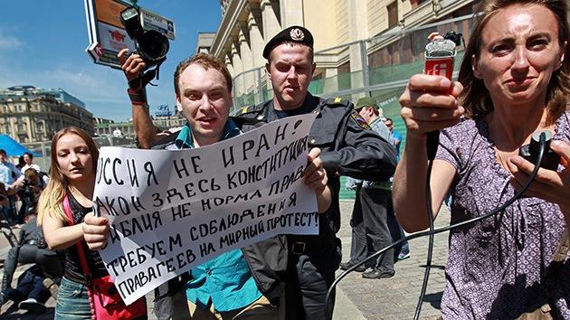 En Moscú recogen firmas para prohibir la 'propaganda gay'
