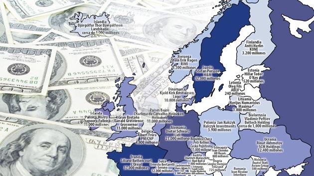 Infografía: ¿Quiénes son los más ricos de Europa?