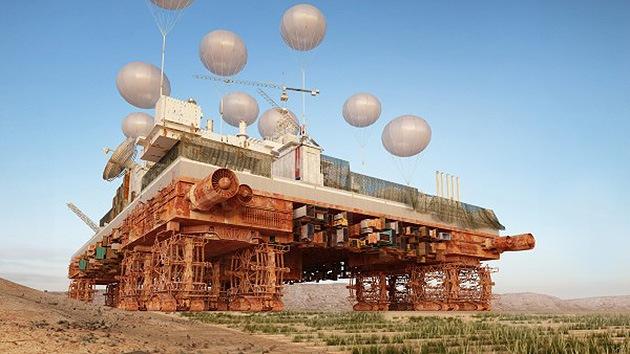 Imágenes: Desarrollan una ciudad móvil para cultivar y poblar desiertos