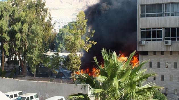 Fotos y video: Una explosión sacude Damasco