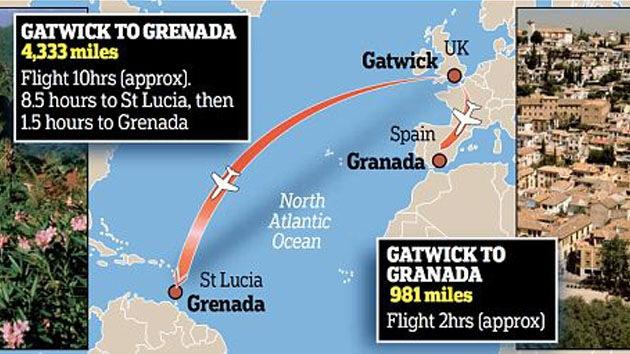 Embarca en un avión para ir a España pero vuela al Caribe