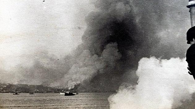 Imágenes inéditas: La explosión que causó una masacre en la Primera Guerra Mundial