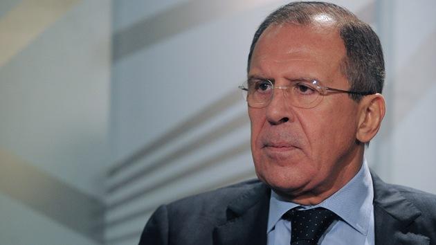 """Lavrov: """"Juegos políticos impiden la investigación sobre armas químicas en Siria"""""""