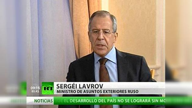 """Lavrov: """"No nos vamos a aburrir, tenemos mucho por hacer el año que viene""""."""
