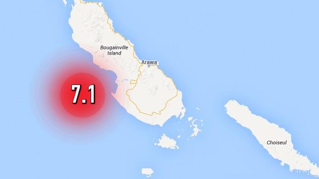 Un terremoto de magnitud 7,1 sacude Papúa Nueva Guinea