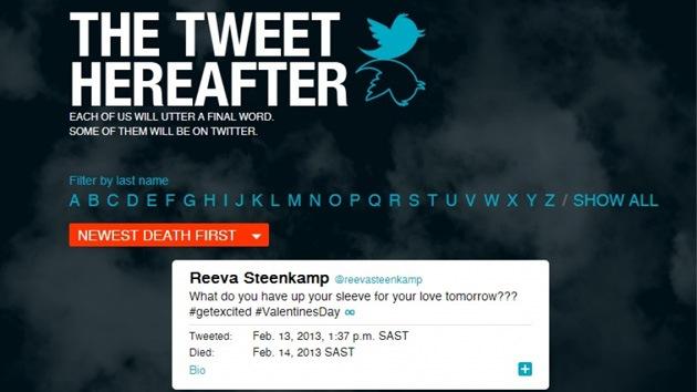 Trinos al más allá: Crean portal que recopila últimos mensajes en Twitter antes de morir