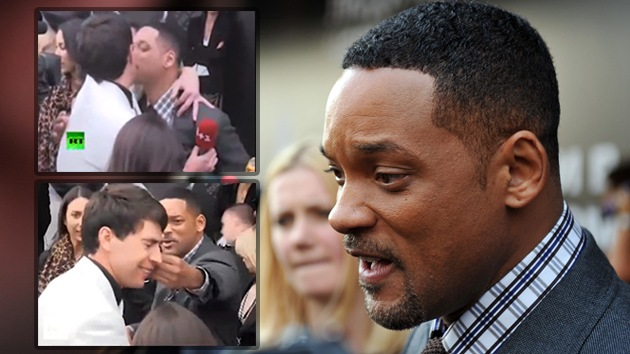 Video: Will Smith le da un manotazo a un periodista que intenta besarle