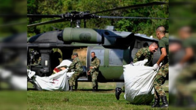 Abaten al menos a 11 guerrilleros de las FARC en un bombardeo al noroeste de Colombia