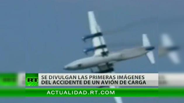 Aparece un video que muestra la caída de un avión de carga en el Congo