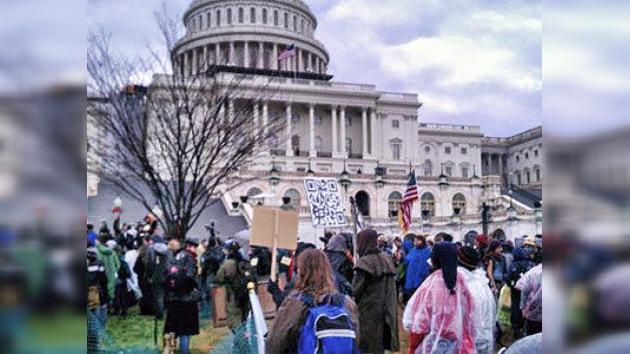 'Ocupa Wall Street' patalea ante el Congreso en su cuarto mes de vida
