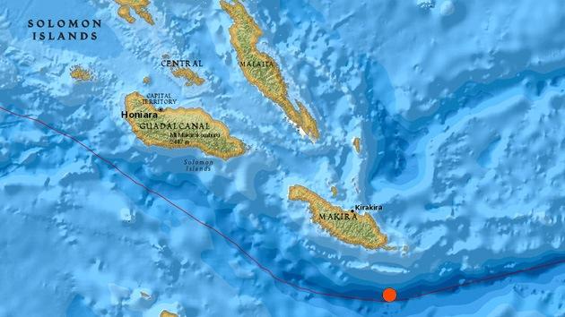 Emiten una alerta de tsunami tras un terremoto de magnitud 7,6 en las Islas Salomón