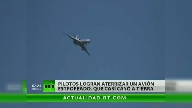 Un video de un milagroso aterrizaje de un avión averiado ruso aparece en Internet