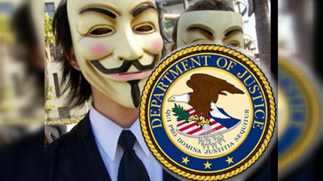 La web del Departamento de Justicia de EE. UU., 'cae' a causa de Anonymous