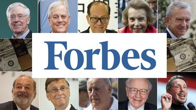 La lista de multimillonarios de 2013 de 'Forbes' alcanza un nuevo récord