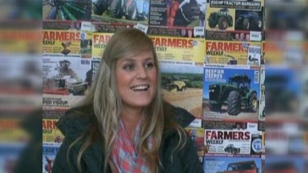 Los británicos eligieron a la granjera más bella del país
