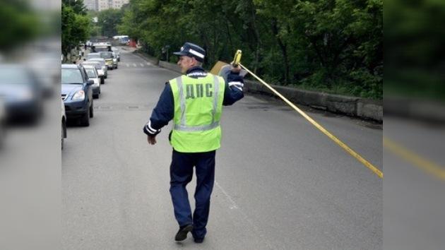 Un polícia de tráfico ruso sufrió lesiones por el mordisco de un malhechor