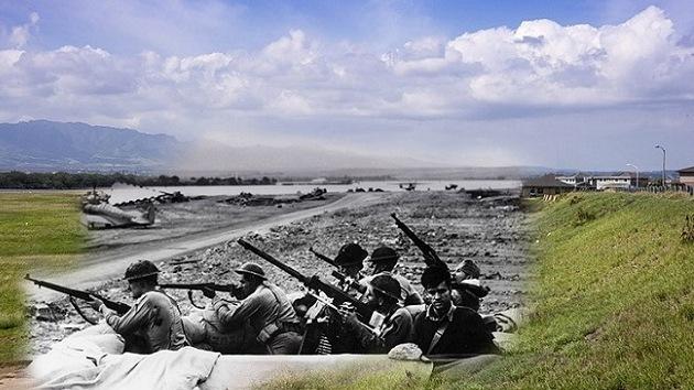 'Ataque fotográfico' sobre Pearl Harbor: la jornada más gris se cuela en la foto en color