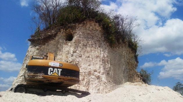 Fotos: Destruyen una de las pirámides mayas más importantes de Belice