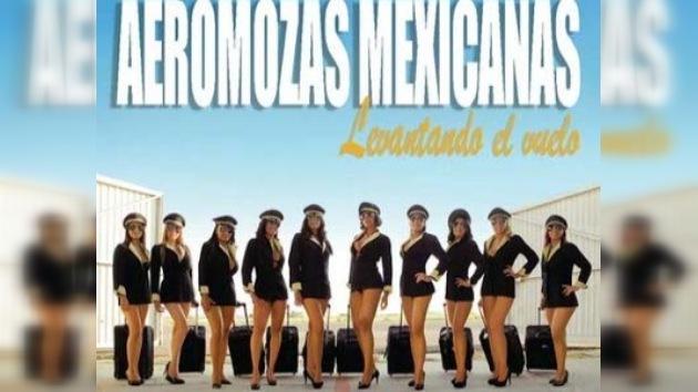Azafatas mexicanas presentan un calendario sexi para recaudar fondos