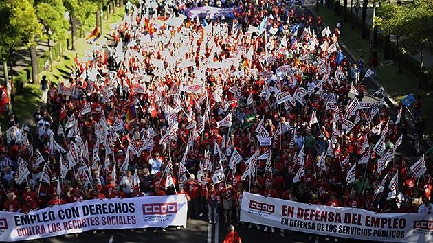 España: 'Reivindicación de colores' contra las medidas de austeridad
