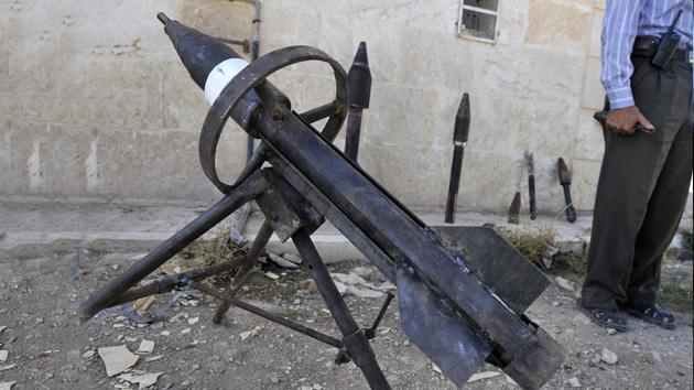 Insurgentes sirios desarrollan armas artesanales