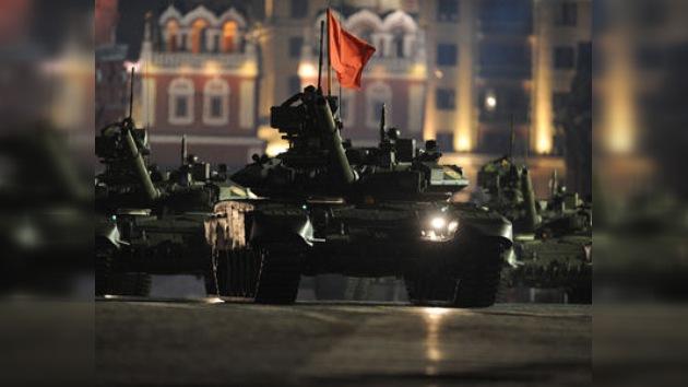 La Plaza Roja acoge el primer ensayo del Desfile de la Victoria