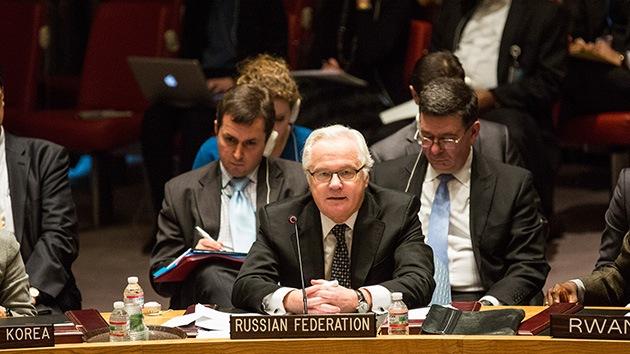 Embajador de Rusia ante la ONU: La comunidad internacional debe influir en los radicales de Ucrania
