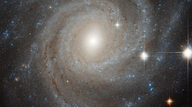 Hubble captura la única imagen de una galaxia espiral