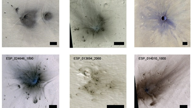 Fotos: Más de 200 asteroides 'bombardean' Marte al año