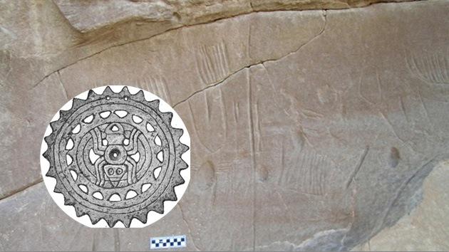 Descubren un enigmático grabado con arañas en un oasis del Alto Egipto