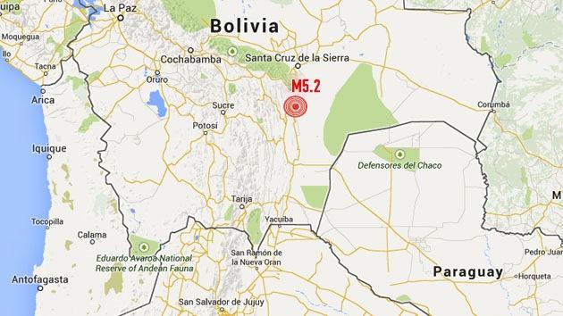 Un sismo de magnitud 5,2 sacude Bolivia