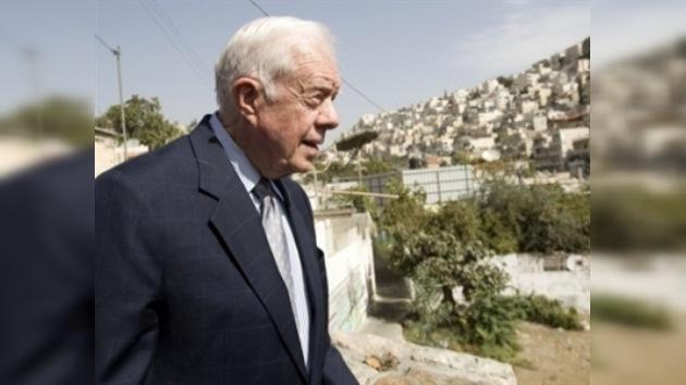 Un habitante de Jerusalén Este ataca la comitiva de Jimmy Carter