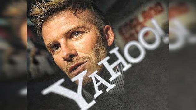 Beckham juega en el campo de la Red