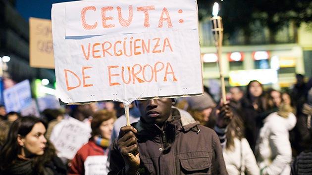La UE pide a España que aclare el disparo de balas de goma contra inmigrantes en Ceuta