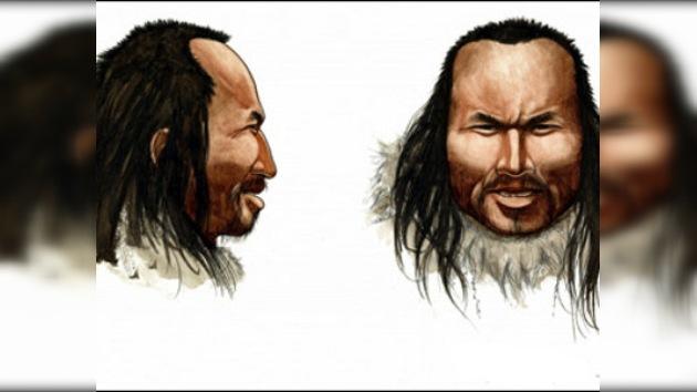 Un retrato del hombre prehistórico: ojos marrones, pelo oscuro y calva