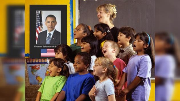 A los niños estadounidenses les hacen glorificar a Obama
