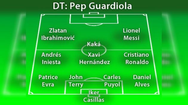 UEFA presentó el equipo ideal del año 2009